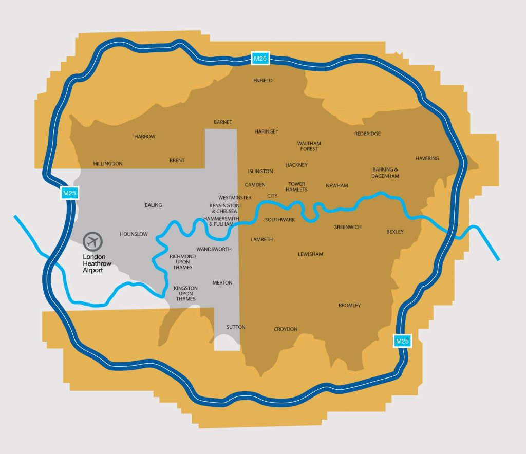 Greater London Area Coverage Map Eagleview
